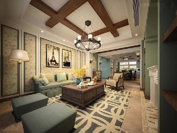 客厅的主要基调是明亮、热烈和丰富的色彩,外加显著的民族性、地域性特色的软装饰品,使得这居住环境中充盈着蓝天、碧海、艳阳天的安宁静谧、自由自在。