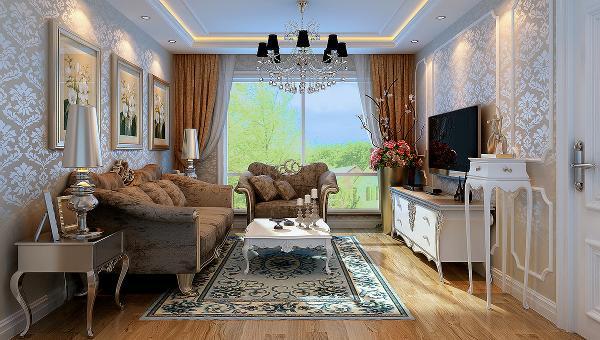 设计理念:古典欧式风格的特征是强了调线形流动的细节变化,将此室内雕刻工艺集中在装饰和陈设艺术上,色彩华丽且用暖色调加以协调,变形的直线与曲线相互作用以及猫脚家具与装饰工艺手段的运用
