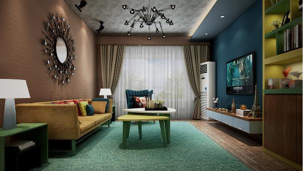 设计理念:从进门的时候看到的几张个性的挂画,餐厅的黑板墙和沙发墙的配饰,很好控制到整个房子的氛围却又不失细致的体现。