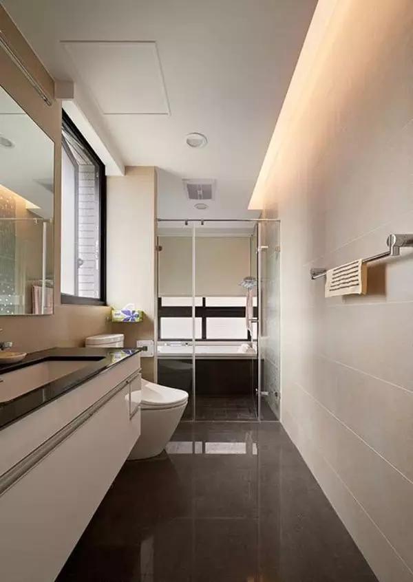 简约 二居 卫生间图片来自实创装饰上海公司在86㎡暖色原木风的分享
