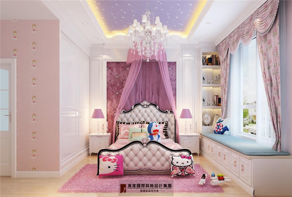 简约 欧式 田园 混搭 三居 收纳 旧房改造 80后 小资 儿童房图片来自杭州高度国际装饰设计在康城一品-233平方欧式古典风格的分享
