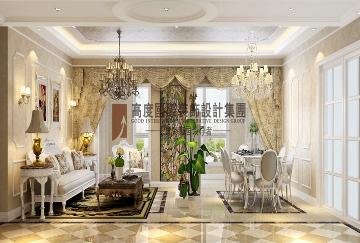 龙湖春江郦城-168平方欧式风格