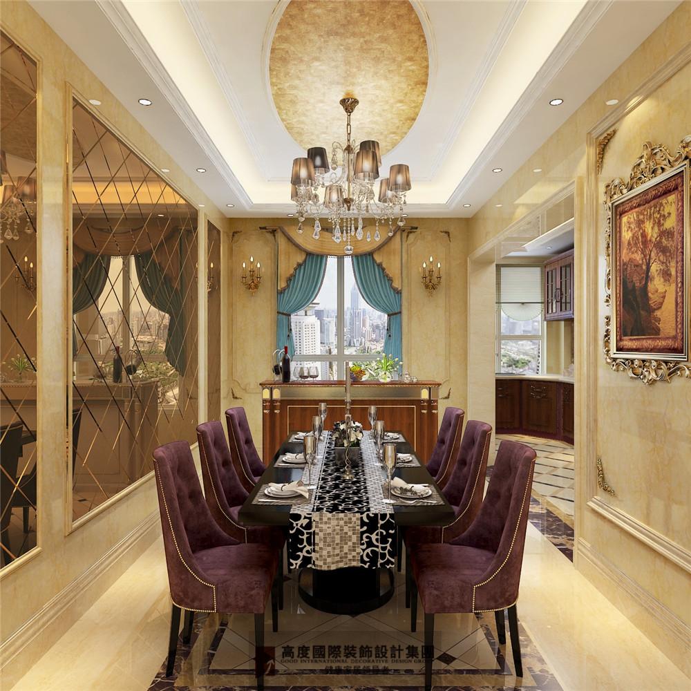 简约 欧式 田园 混搭 三居 收纳 旧房改造 80后 小资 餐厅图片来自杭州高度国际装饰设计在康城一品-233平方欧式古典风格的分享