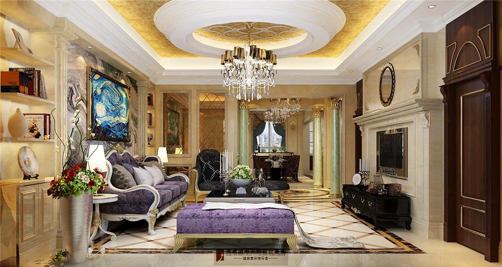 简约 欧式 田园 混搭 三居 收纳 旧房改造 80后 小资 客厅图片来自杭州高度国际装饰设计在康城一品-233平方欧式古典风格的分享