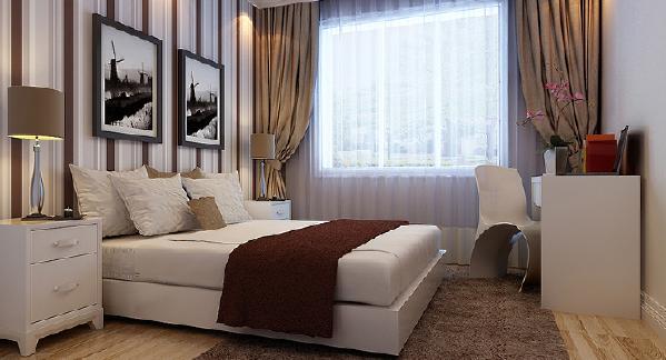 天津实创天地源欧筑现代简约风格卧室效果