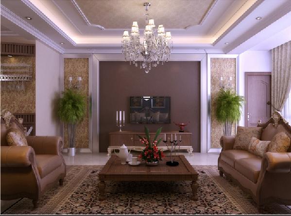 云锦世家欧式古典三居室客厅效果