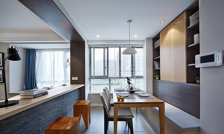 餐厅图片来自家装大管家在明媚之选 89平现代北欧原木loft的分享