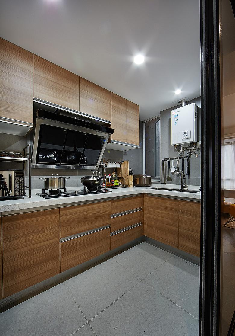 厨房图片来自家装大管家在明媚之选 89平现代北欧原木loft的分享