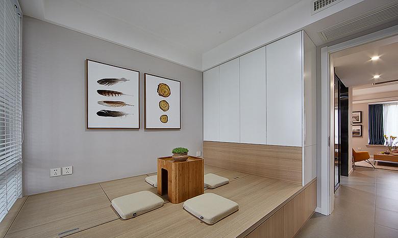 客厅图片来自家装大管家在明媚之选 89平现代北欧原木loft的分享