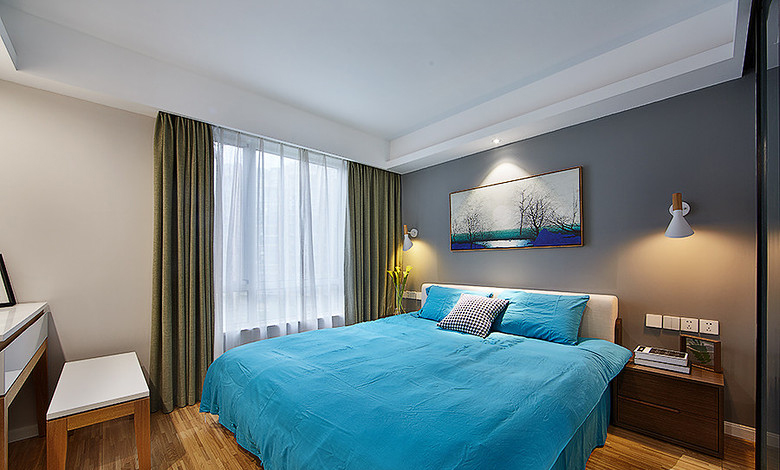 卧室图片来自家装大管家在明媚之选 89平现代北欧原木loft的分享