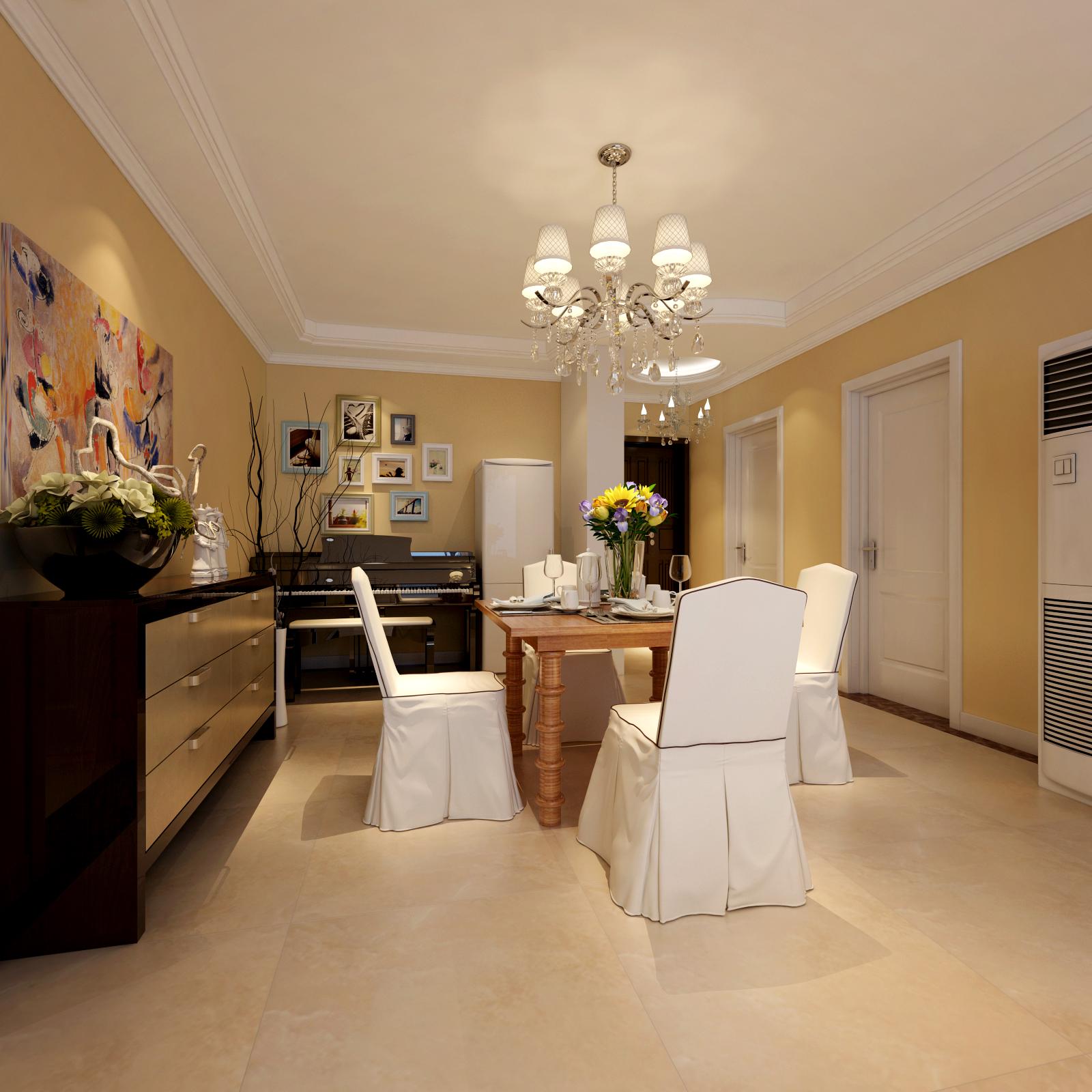 混搭 三居室 家庭装修 装修效果图 餐厅 餐厅图片来自北京汉东装饰设计在K2清水湾  混搭  温馨之家的分享