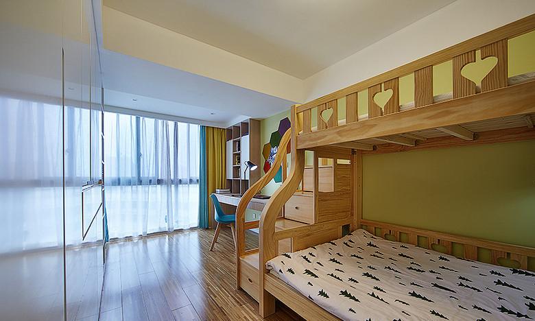 儿童房图片来自家装大管家在明媚之选 89平现代北欧原木loft的分享