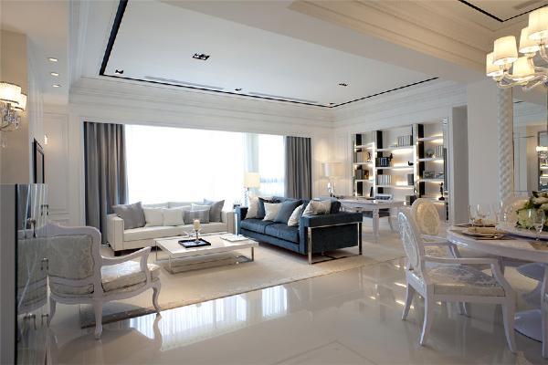 欧式风格-K2玉蘭湾133平三居-北京龙发建筑装饰装修案例