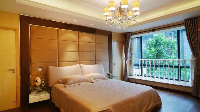 简约 现代 二居 白领 收纳 卧室图片来自北京高度国际---小吴在K2百合湾120㎡现代简约公寓的分享