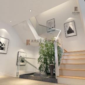 简约 欧式 田园 混搭 别墅 收纳 旧房改造 80后 小资 楼梯图片来自杭州高度国际装饰设计在清源上林湖-230平方现代风格的分享