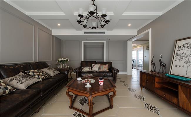 美式 混搭 客厅图片来自玉玲珑装饰在美式混搭风格的分享