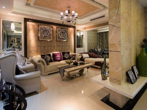 后现代 客厅图片来自玉玲珑装饰在后现代风格的新家的分享