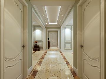 奥北公元三居室简美风格案例
