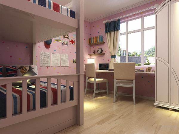 主卧室的采光相对较好,而且主要注重实用性,地台上的柜子也可以为空间增加一定的储物空间,整套方案风格统一,实用性与舒适度较强。