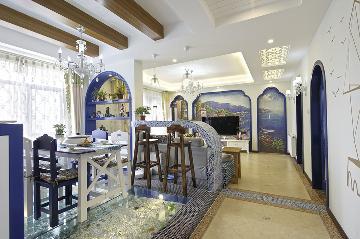 南湖名都115平地中海风格三居室