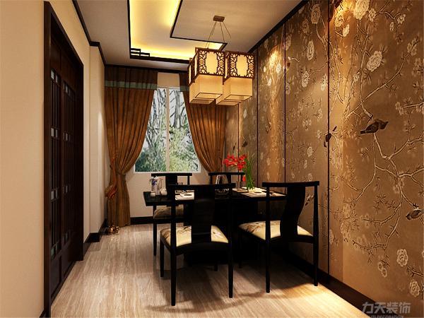本案为罗兰公馆,本例户型为三室两厅一厨一卫的户型,使用面积为105㎡,环境优美,为一三口之家为依据进行设计的,突出温馨、中式且不失时尚质感。