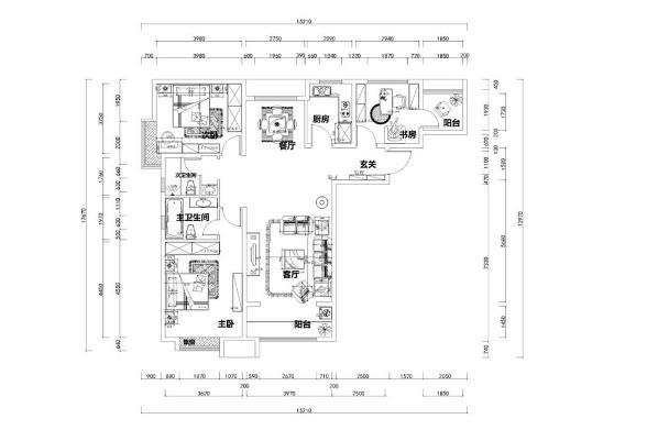 入户我们的正前方,首先看到的是一个较大的空间,它是休闲娱乐的设计,右边是一个客厅的设计,是整个空间的视觉中心,与入户门相邻的是厨房,在玄关的左边是大大的客厅是家人聚合的地方。
