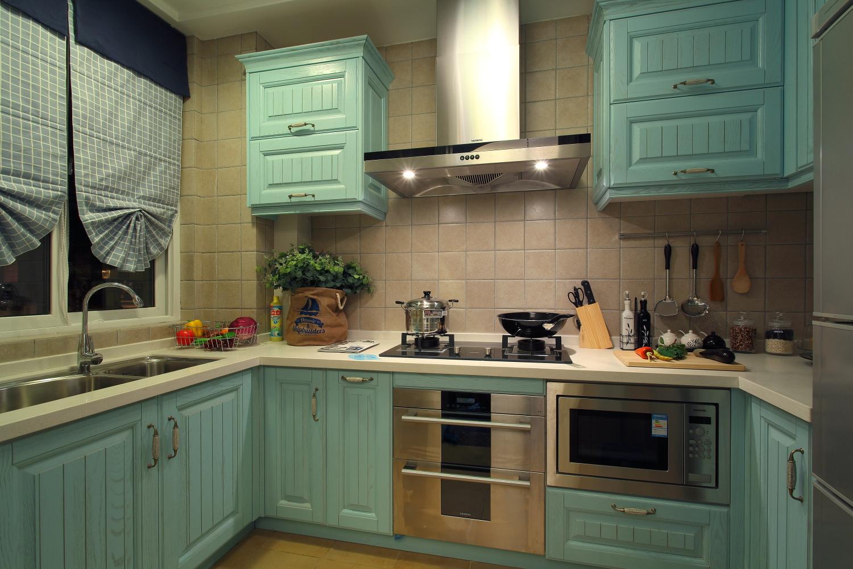 二居 白领 小资 地中海 汉口城市 厨房图片来自武汉苹果装饰在猫舍—小户型地中海的分享