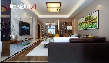 晋阳湖壹号190平米现代装修设计