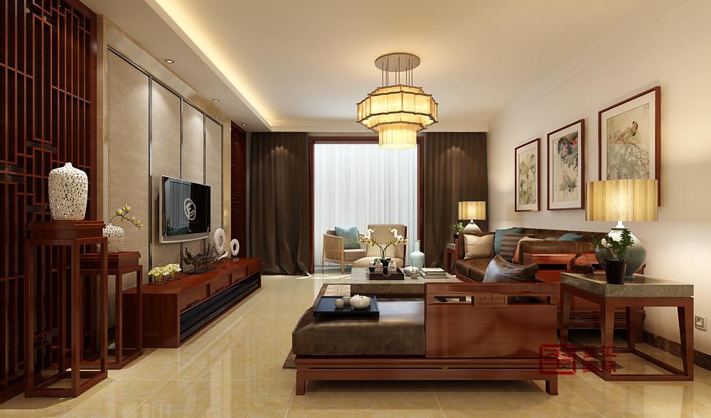 中式 三居 客厅图片来自河北玺汇国际装饰公司在北郡160平三居室中式风格设计的分享