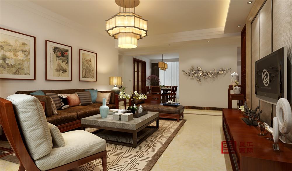 中式 三居 新房 客厅图片来自河北玺汇国际装饰公司在北郡160平三居室中式风格设计的分享