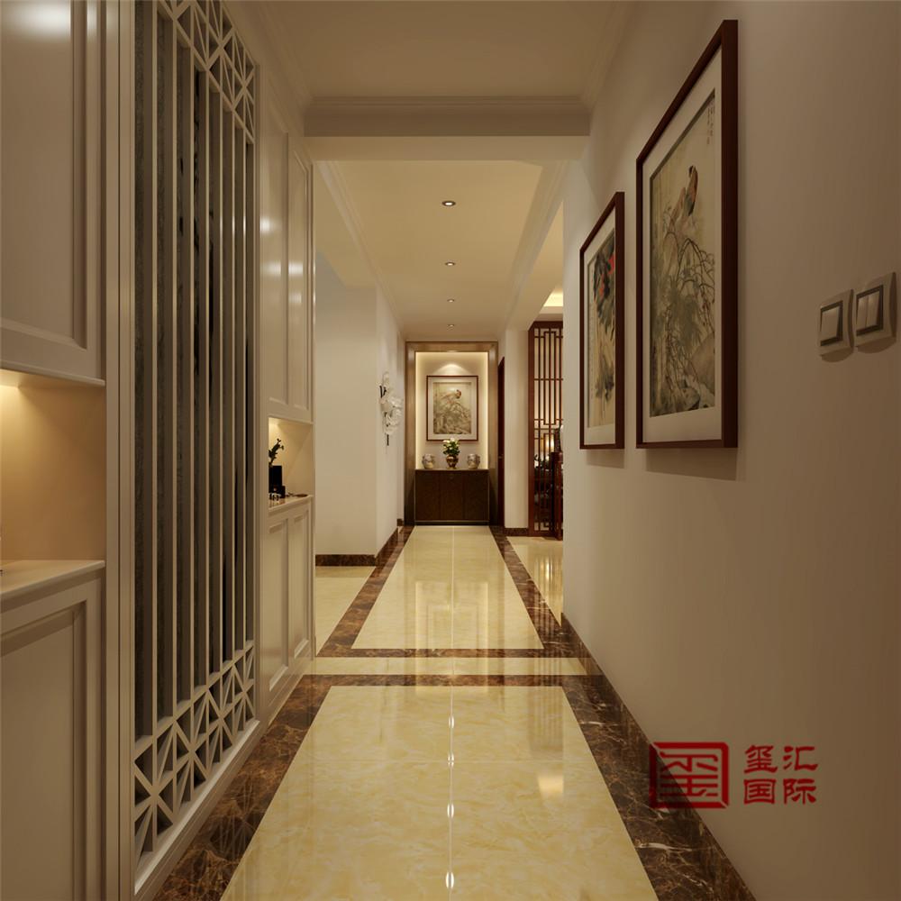 中式 三居 新房 走廊图片来自河北玺汇国际装饰公司在北郡160平三居室中式风格设计的分享