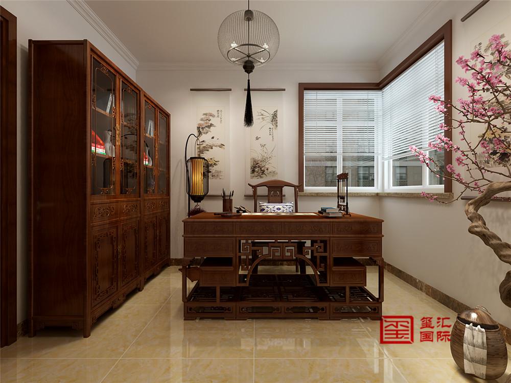 中式 三居 新房 书房图片来自河北玺汇国际装饰公司在北郡160平三居室中式风格设计的分享