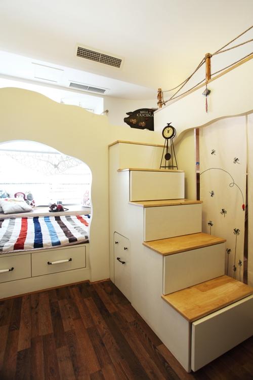 儿童房图片来自武汉一号家居网装修在城投瀚城140平地中海三室两厅的分享