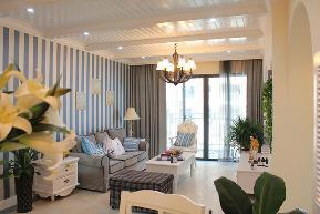 地中海 两室一厅 小清新 雄楚1号 客厅图片来自武汉一号家居网装修在雄楚1号91平地中海清新两室一厅的分享