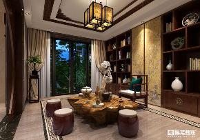 别墅装修 中式风格 广州装修 星艺装饰 书房 其他图片来自星艺装饰集团广州总部在别墅装修之古色古香的中式风的分享