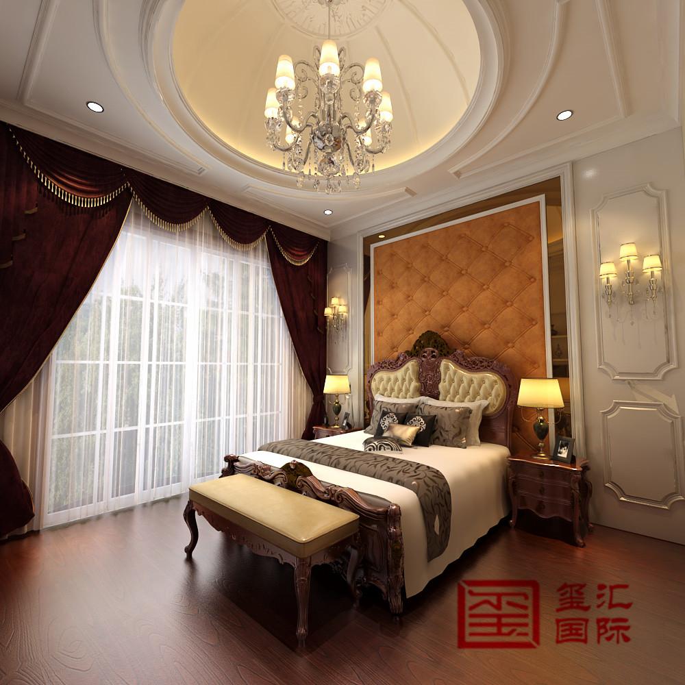 别墅 欧式 玺汇国际 卧室 卧室图片来自河北玺汇国际装饰公司在恒大金碧天下246平别墅欧式风格的分享