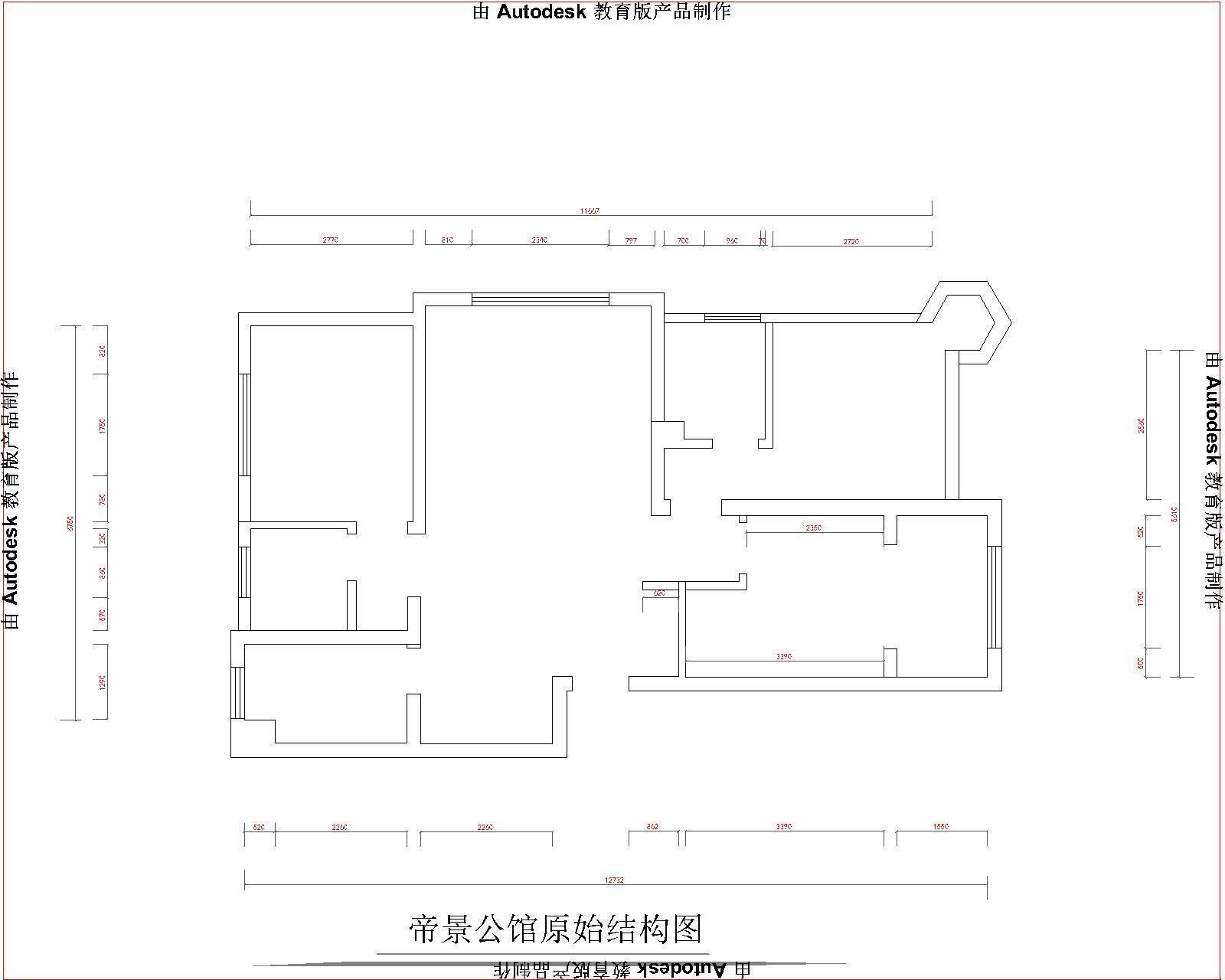 简欧 清徐 帝景公馆 户型图图片来自昆明九创装饰温舒德在清徐 帝景公馆 117平米的分享
