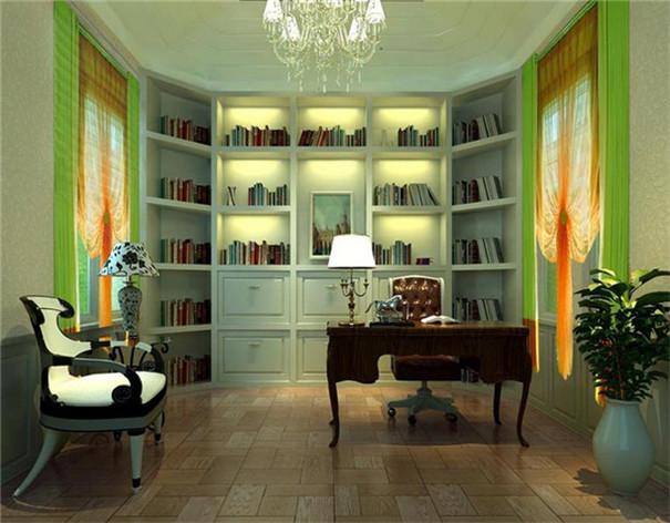 复式 简约 现代 书房图片来自日升装饰公司在240平三居现代风的分享
