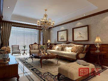 海棠湾151平美式风格