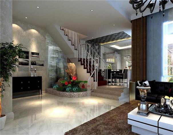 复式 简约 现代 客厅图片来自日升装饰公司在240平三居现代风的分享