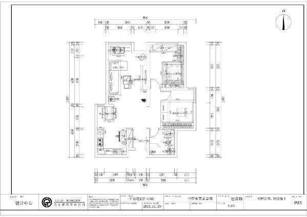 整体方案需要一定的储物功能所以在玄关还 有主卧次卧都有都有一些相应的储物功能,此户型南北通透,采光较好,户型比较规整,整体空间的 布局基本合理。
