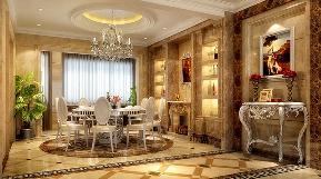 欧式 三居 舒适 奢华 80后 旧房改造 白领 小资 餐厅图片来自天津实创装饰赵在旺海公府 124平米-简欧风格装修的分享