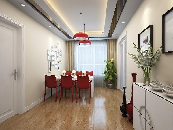 中粮大道、141平米-现代简约风格装修餐厅