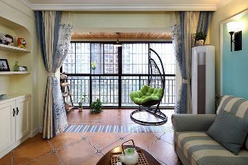 124平三居室混搭风格
