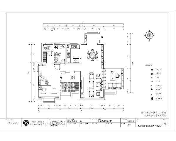 本户型为星河荣御三室两厅一厨两卫125㎡户型, 本户型是中式风格