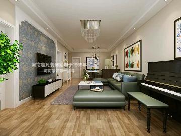 祝福红城128平户型简约风格设计