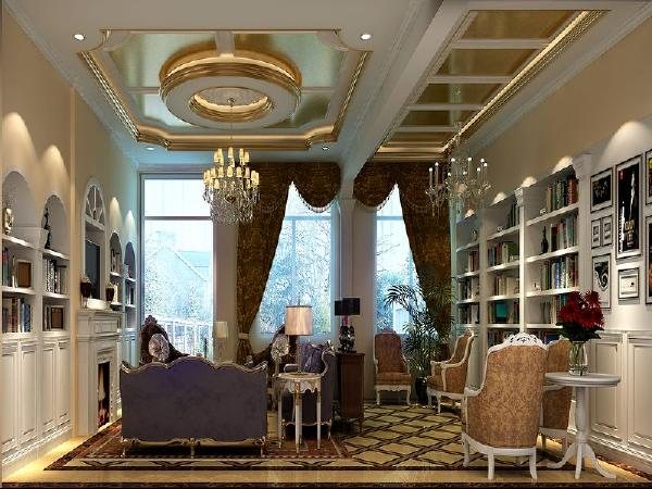 客厅:一层客厅作为主要的洽谈区域,在设计上求新求巧。意在用空间本身的美营造一种大气、久远 的生活体验。