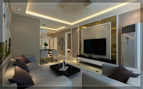 客厅:此空间是整个方案的核心部分,给人视觉的、精神的享受。银灰色的沙发、玻璃的茶几,完美的将时尚与后现代融合。室内融合一个看起来简单的角落设计,实都凝结着设计师的独具匠心,既美观又实用。
