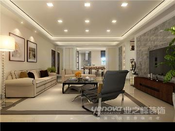 信合家园230平新中式设计装修图