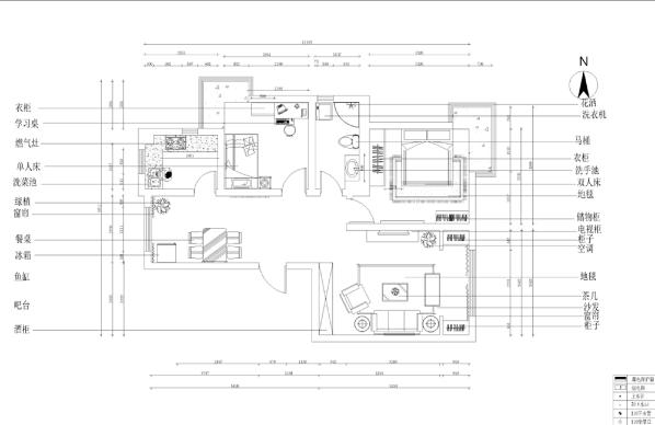 进入入户门右手边为客厅,左手边为餐厅位置,餐厅对面为厨房的位置,厨房的右手边为次卧室的位置,次卧室的右手边为卫生间的位置,卫生间的右手边为主卧室位置。